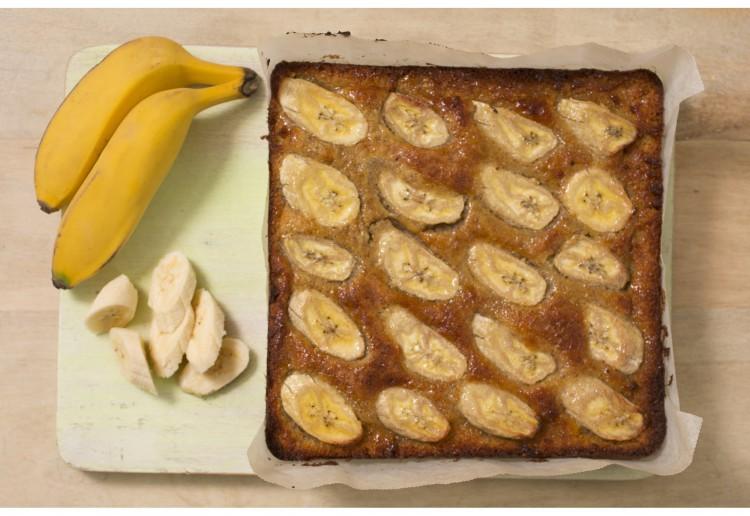 Square Flour-less White Chocolate Almond Slice
