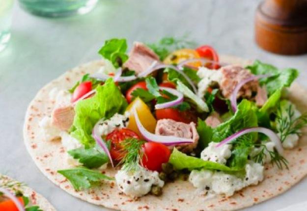 Zingy tuna salad wrap
