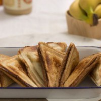 Banana Jaffle Combos  (Banana and Cashew Butter, Banana and Nutella, B