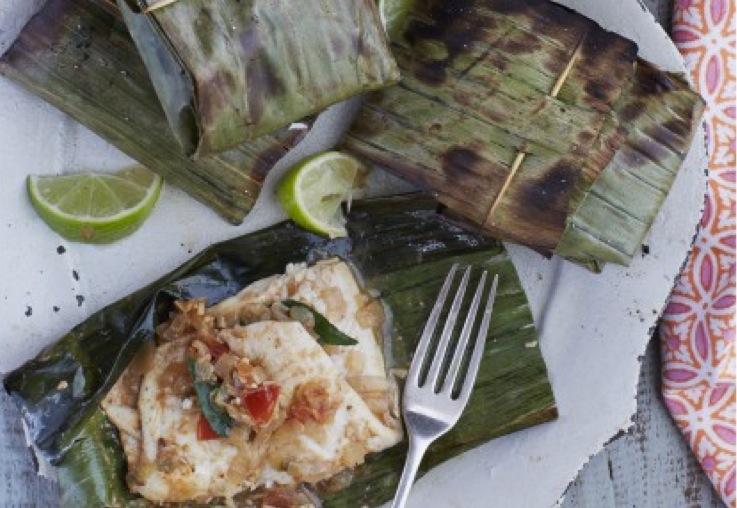Keralan Banana Leaf Grilled Fish - Real Recipes from Mums