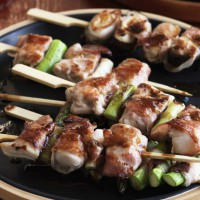 Bacon-wrapped Yakitori