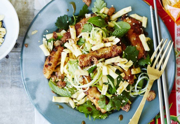 Sesame and Miso Glazed Chicken with Fresh and Crunchy Noodle Salad ...