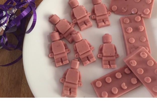 Lego strawberries and cream jellies