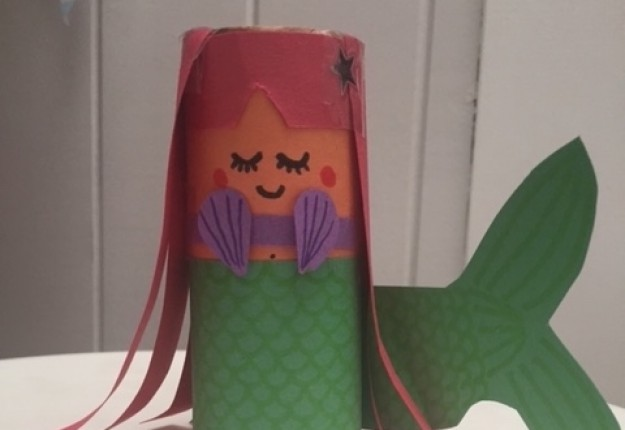 Toilet roll mermaid arts crafts and diy for Mermaid arts and crafts