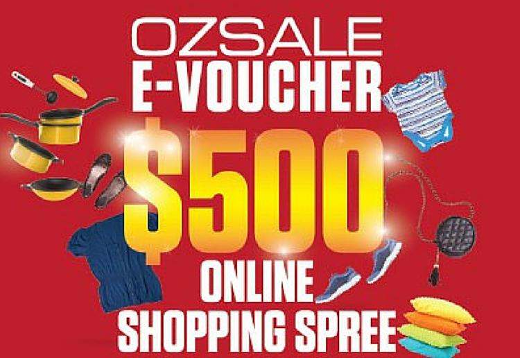WIN a $500 OZSALE shopping spree!