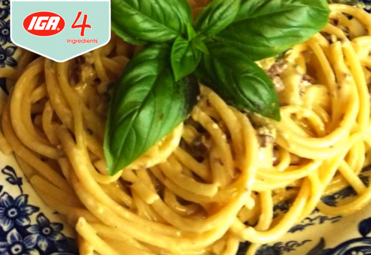 Olive and Basil Pasta