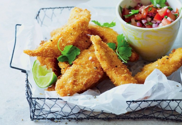 Macadamia-crumbed Chicken Strips