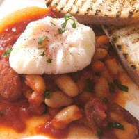 Poached Egg with Baked Beans