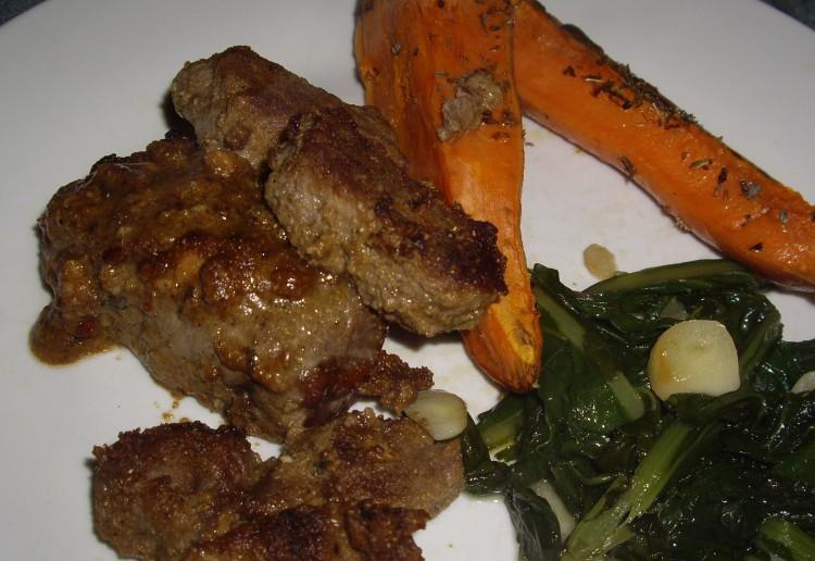 Moroccan beef steak