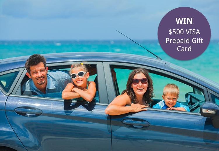 WIN a $500 prepaid VISA gift card!