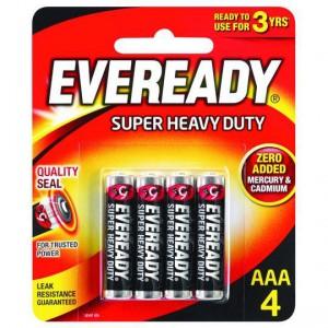 Eveready Super Heavy Duty Aaa Batteries