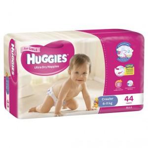 Huggies Ultra Dry Nappies Crawler Girl 6-11kg Bulk