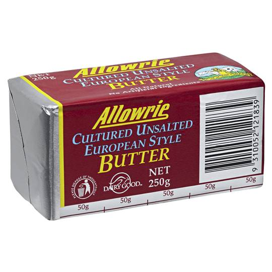 Allowrie Unsalted Cultured Butter