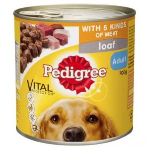 Pedigree Adult Dog Food Can Loaf 5 Kinds Of Meat