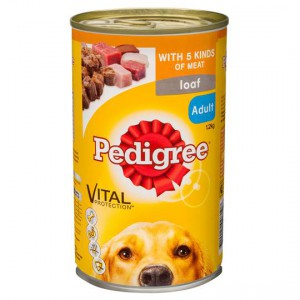 Pedigree Adult Dog Food Can Loaf With 5 Kinds Of Meat