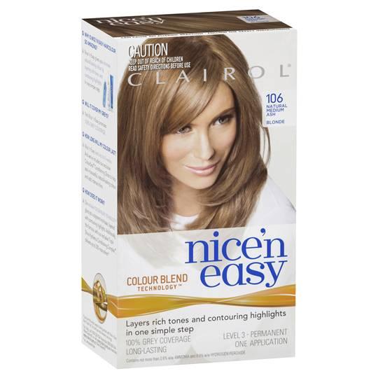 Clairol Nice N Easy 106 Natural Medium Ash Blonde