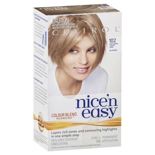 Clairol Nice N Easy 102 Natural Light Ash Blonde