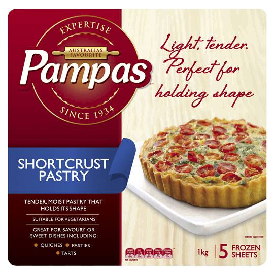 Pampas Short Crust Pastry Sheets 5 Sheets