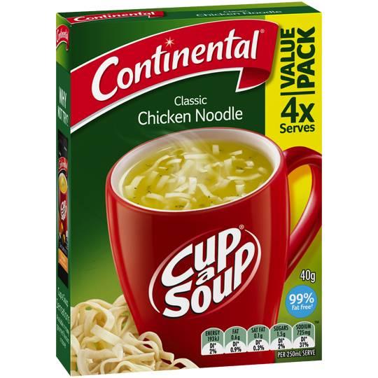 Continental Cup A Soup Instant Soup Chicken Noodle