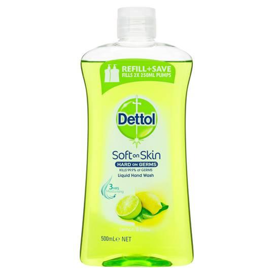Dettol Liquid Hand Wash Refill Lemon & Lime