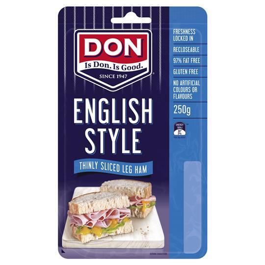 Don Ham Leg English Baked Shaved
