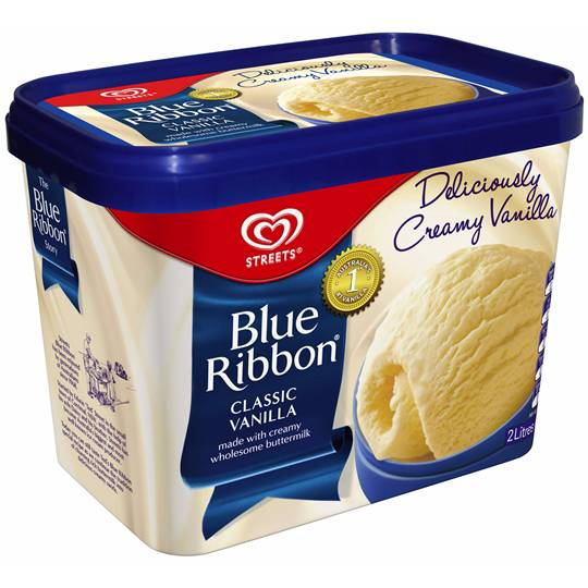 Streets Blue Ribbon Ice Cream Vanilla Ratings Mouths Of Mums