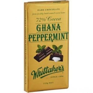 Whittakers Dark Chocolate 72% Cocoa Ghana Peppermint