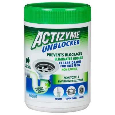 Actizyme Drain Cleaner Safe Pellet Natural