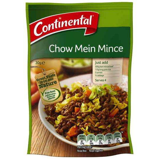 Continental Recipe Base Chow Mein Mince