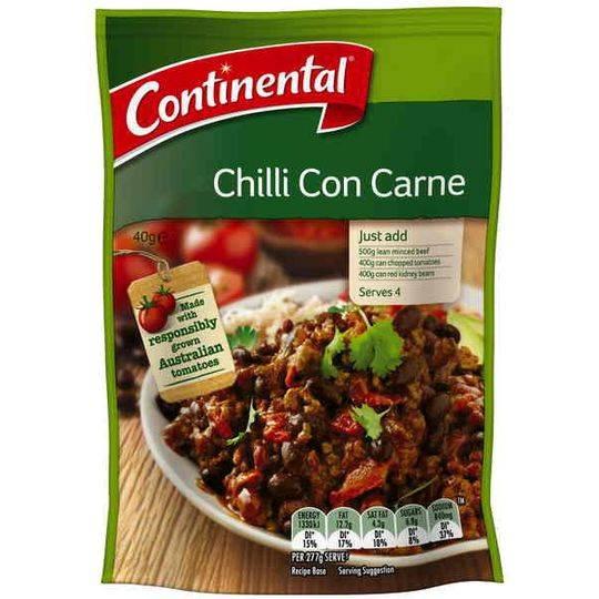 Continental Recipe Base Chilli Con Carne