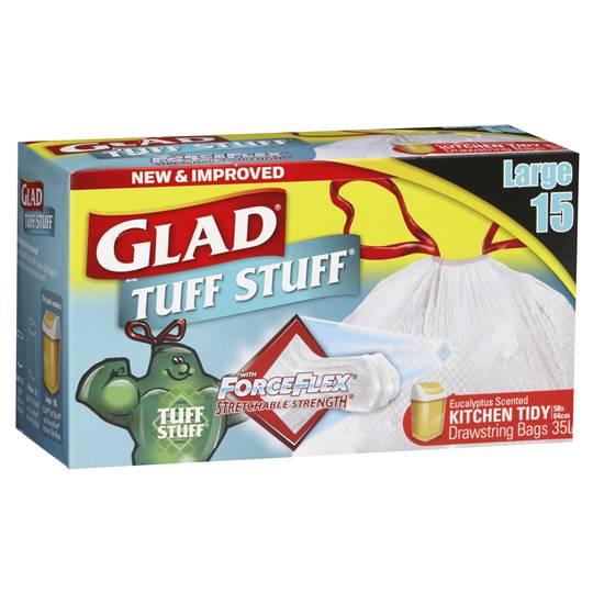 Meex_spali reviewed Glad Tuff Stuff Forceflex Drawstring Kitchen Bags Large