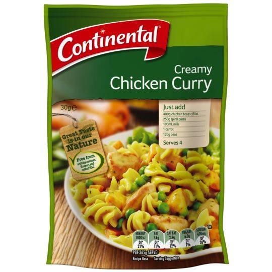 Continental Recipe Base Creamy Chicken Curry