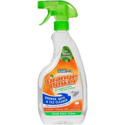 Orange Power Bathroom Cleaner Shower Bath Tile Ratings Mouths Of Mums - Bathroom tiles cleaning products