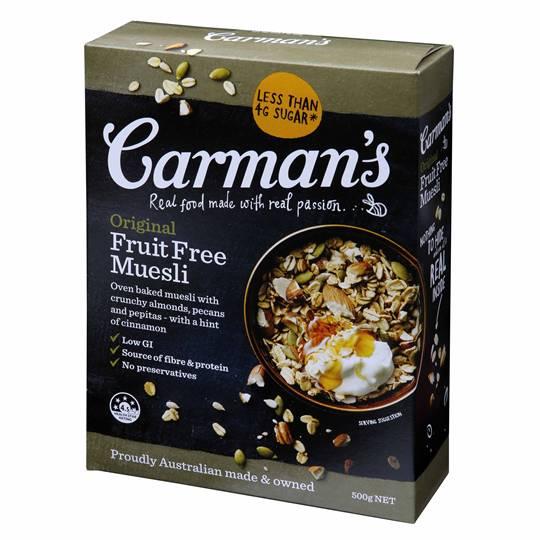 Carman's Original Fruit Free Muesli