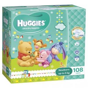 Huggies Ultra Dry Nappies Newborn Up To 5kg Jumbo Box