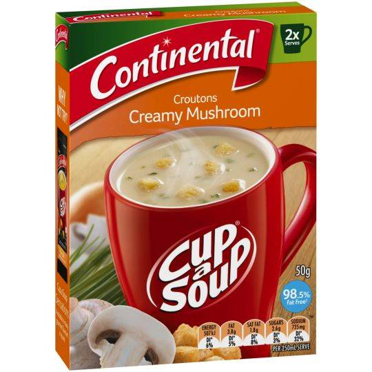 Fiona M reviewed Continental Cup A Soup Croutons Creamy Mushroom