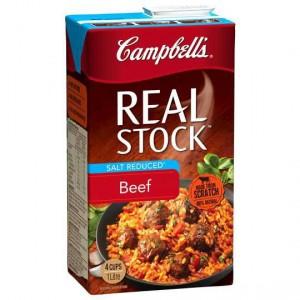 Campbells Real Beef Liquid Stock Salt Reduced