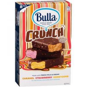 Bulla Crunch Ice Cream Caramel Strawberry Honey