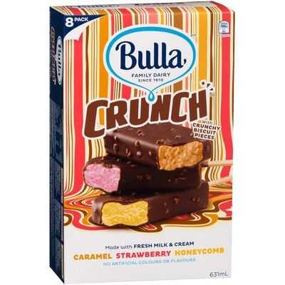 mom337845 reviewed Bulla Crunch Ice Cream Caramel Strawberry Honey