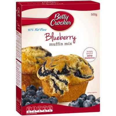 Betty Crocker Muffin Mix Blueberry 97% Fat Free