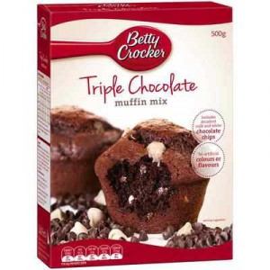 Betty Crocker Muffin Mix Triple Chocolate