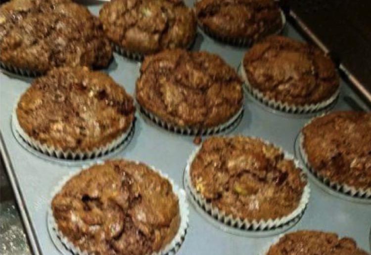 Nutella brownie muffin