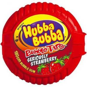 Wrigley's Hubba Bubba Gum Tape Strawberry