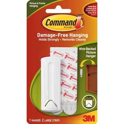 Command Wire Backed Picture Hanger White