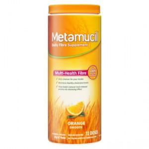 Metamucil Daily Fibre Supplement Orange Smooth 72 Doses