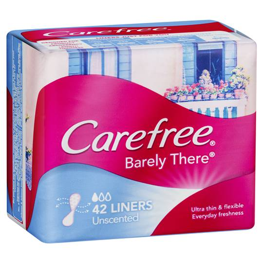 Carefree Barely There Panty Liners Ultra Thin Breathable