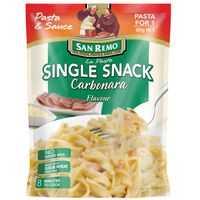 mom62624 reviewed San Remo La Pasta Carbonara Single Snack