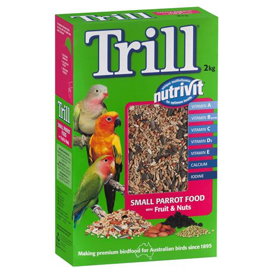 jessm2290 reviewed Trill Bird Food Small Parrot Fruit & Nut