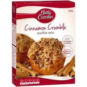 Betty Crocker Muffin Mix Cinnamon Crumble