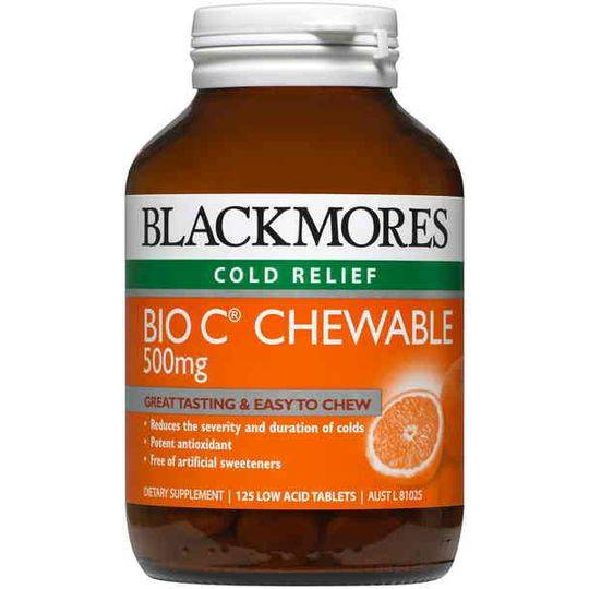 Blackmores Cold Relief Bio C Chewable 500mg